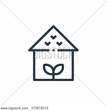 house icon isolated on white background from ecology collection. house icon trendy and modern house