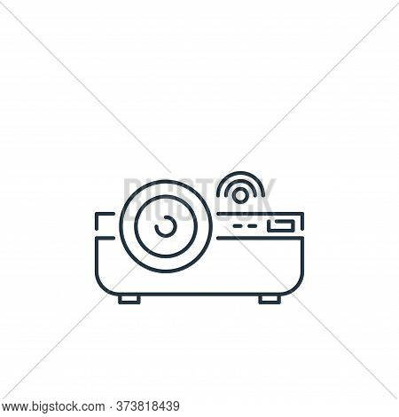 projector icon isolated on white background from internet of things collection. projector icon trend