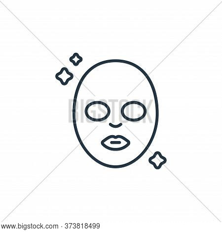 face mask icon isolated on white background from beauty cosmetics collection. face mask icon trendy