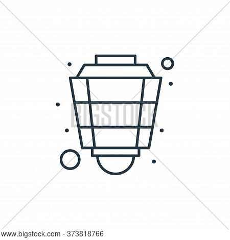 lantern icon isolated on white background from islam and ramadan collection. lantern icon trendy and