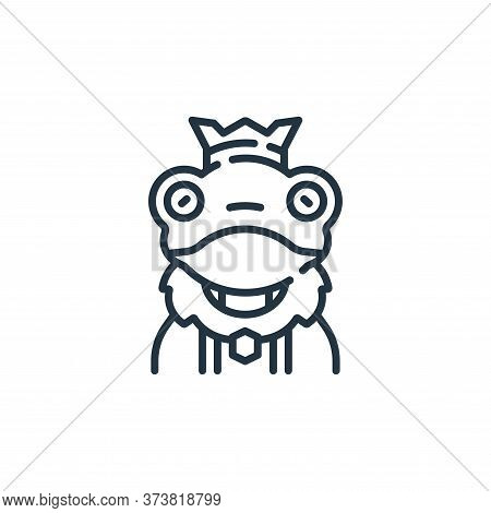 frog prince icon isolated on white background from fantastic characters collection. frog prince icon