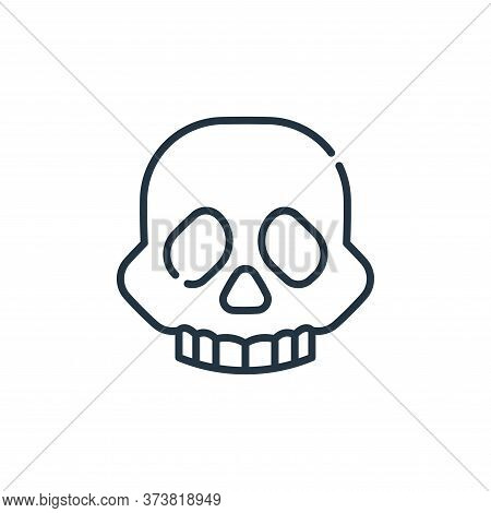 skull icon isolated on white background from climate change collection. skull icon trendy and modern