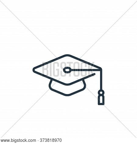 mortarboard icon isolated on white background from life skills collection. mortarboard icon trendy a