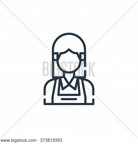 maid icon isolated on white background from cleaning collection. maid icon trendy and modern maid sy
