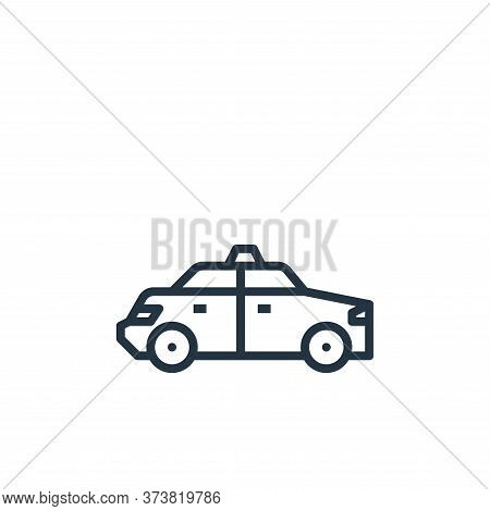 taxi icon isolated on white background from travel collection. taxi icon trendy and modern taxi symb