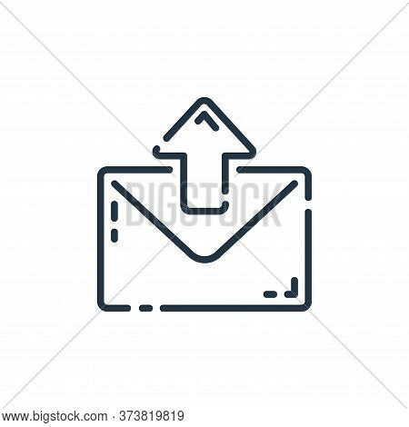 email icon isolated on white background from user interface collection. email icon trendy and modern