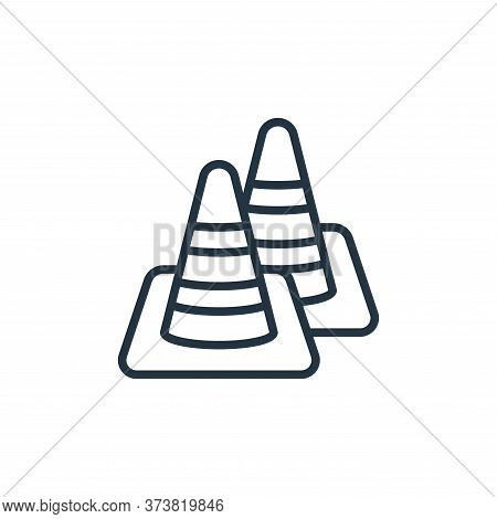 traffic cone icon isolated on white background from motorway collection. traffic cone icon trendy an