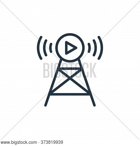 Broadcast icon isolated on white background from internet of things collection. Broadcast icon trend
