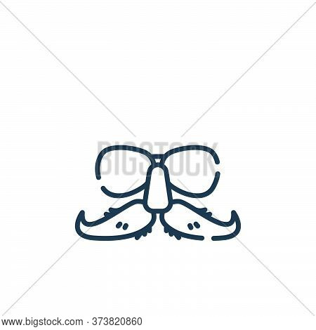 glasses icon isolated on white background from celebration collection. glasses icon trendy and moder