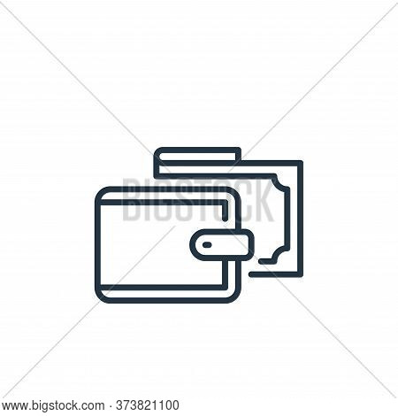 wallet icon isolated on white background from mall collection. wallet icon trendy and modern wallet