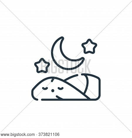 sleeping icon isolated on white background from ramadan collection. sleeping icon trendy and modern