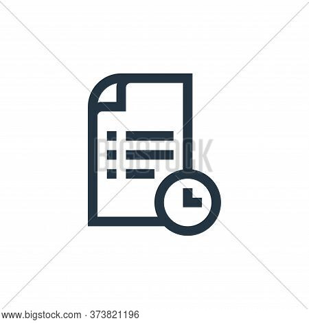 deadline icon isolated on white background from job resume collection. deadline icon trendy and mode