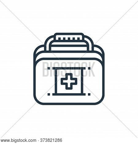 first aid box icon isolated on white background from camping collection. first aid box icon trendy a
