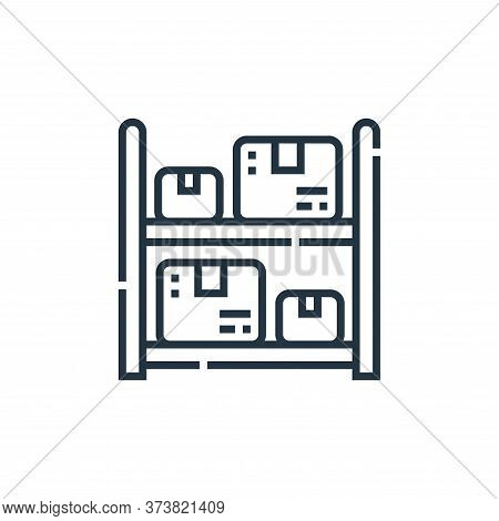 storage icon isolated on white background from delivery collection. storage icon trendy and modern s