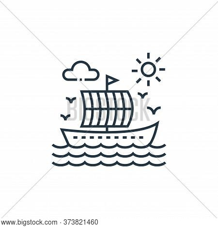 boat icon isolated on white background from tourism collection. boat icon trendy and modern boat sym
