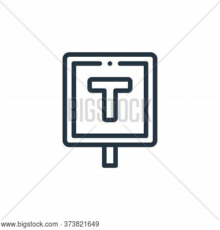 taxi stop icon isolated on white background from taxi service collection. taxi stop icon trendy and