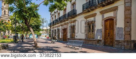 Guadalajara, Jalisco, Mexico - November 23, 2019: The View Of The Temple San Jose De Garcia, From Th