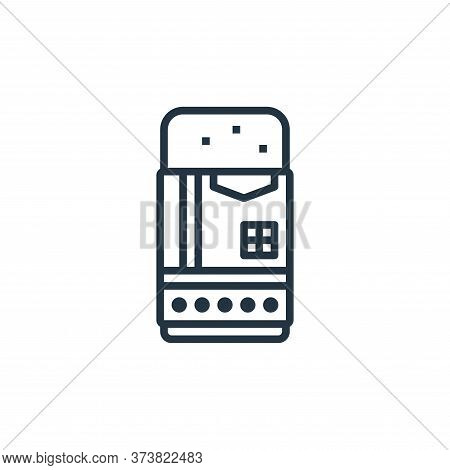 eraser icon isolated on white background from stationery collection. eraser icon trendy and modern e