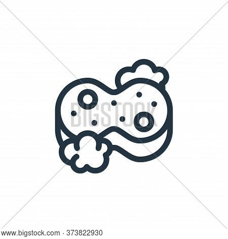 sponge icon isolated on white background from personal hygiene collection. sponge icon trendy and mo
