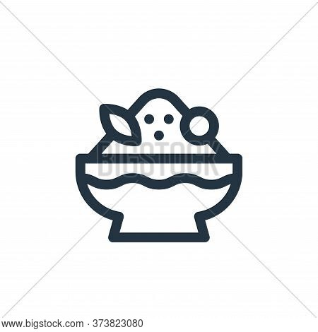 shaved ice icon isolated on white background from gastronomy collection. shaved ice icon trendy and