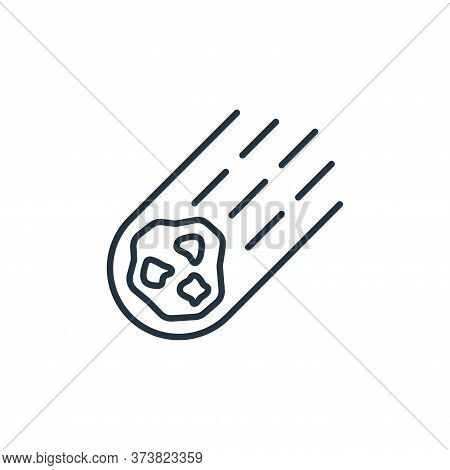 Asteroid icon isolated on white background from space collection. Asteroid icon trendy and modern As