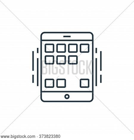 smartphone icon isolated on white background from technology devices collection. smartphone icon tre
