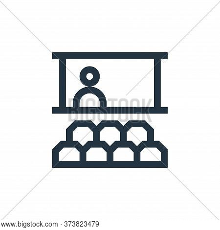 seminar icon isolated on white background from job resume collection. seminar icon trendy and modern