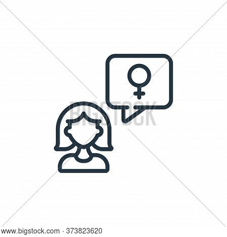 message icon isolated on white background from womens day collection. message icon trendy and modern