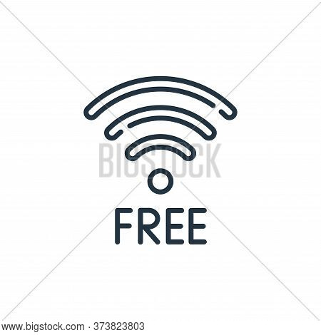 wifi icon isolated on white background from mall collection. wifi icon trendy and modern wifi symbol