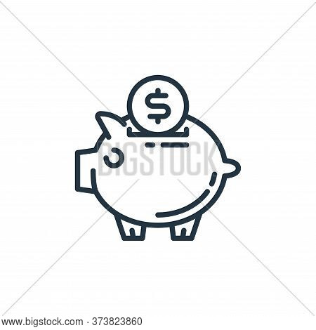 piggy bank icon isolated on white background from money and currency collection. piggy bank icon tre