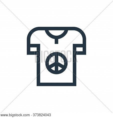 t shirt icon isolated on white background from hippies collection. t shirt icon trendy and modern t