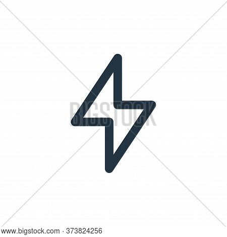 bolt icon isolated on white background from user interface collection. bolt icon trendy and modern b