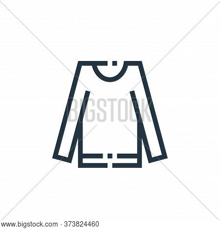 sweater icon isolated on white background from clothes and apparel collection. sweater icon trendy a