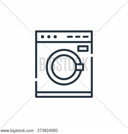 washing machine icon isolated on white background from cleaning collection. washing machine icon tre