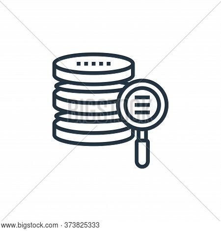 data storage icon isolated on white background from data analytics collection. data storage icon tre