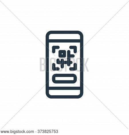 qr code icon isolated on white background from ecommerce collection. qr code icon trendy and modern