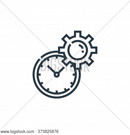 time management icon isolated on white background from marketing collection. time management icon tr