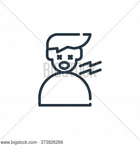 tired icon isolated on white background from symptoms virus collection. tired icon trendy and modern