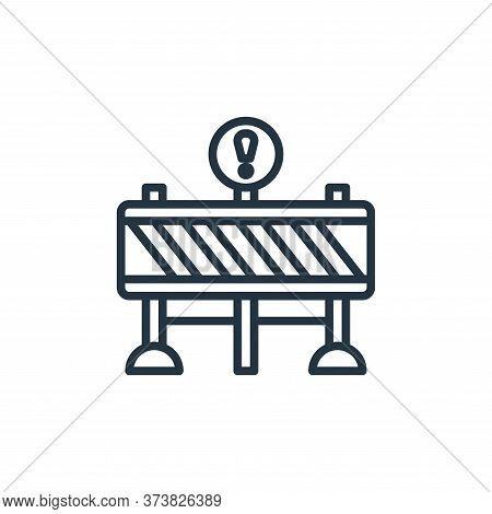 barrier icon isolated on white background from motorway collection. barrier icon trendy and modern b