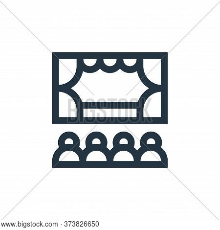 theater icon isolated on white background from hobbies collection. theater icon trendy and modern th