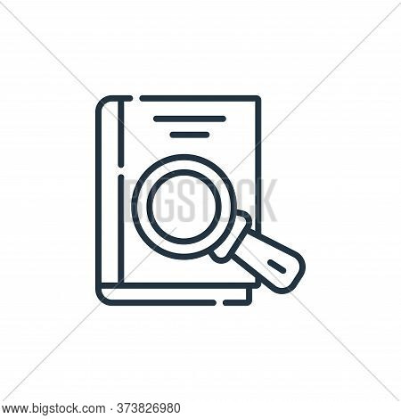 book icon isolated on white background from academy collection. book icon trendy and modern book sym