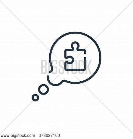 speech bubble icon isolated on white background from life skills collection. speech bubble icon tren
