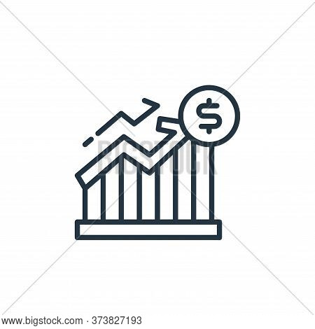 money growth icon isolated on white background from money and currency collection. money growth icon