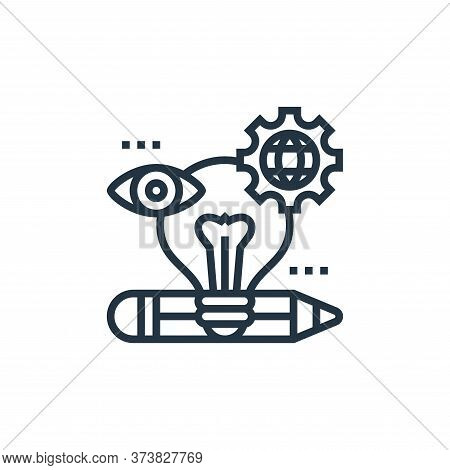 creativity icon isolated on white background from digital transformation collection. creativity icon