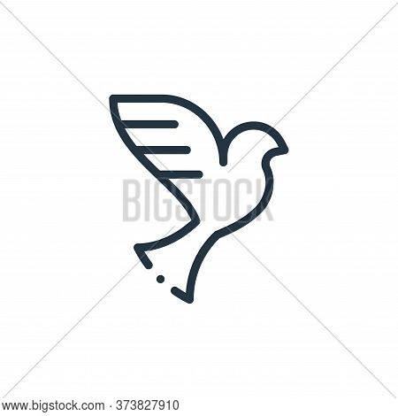 dove icon isolated on white background from world love collection. dove icon trendy and modern dove