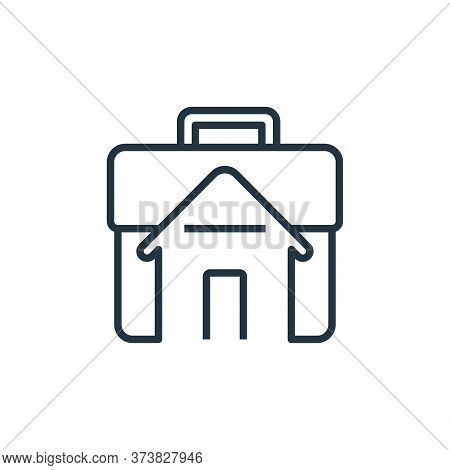 working at home icon isolated on white background from working from home collection. working at home