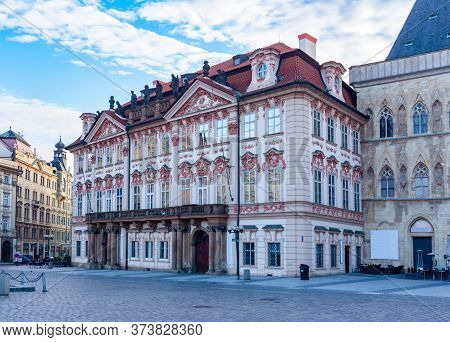 Kinsky Palace On Old Town Square In Stare Mesto, Prague, Czech Republic