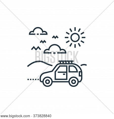 road trip icon isolated on white background from tourism collection. road trip icon trendy and moder