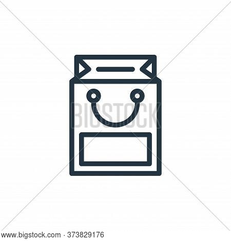shopping bag icon isolated on white background from business collection. shopping bag icon trendy an