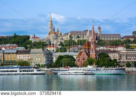 Fisherman's Bastion On Buda Side Of Budapest, Hungary